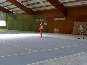 Tennis in der Halle